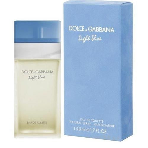 perfume light blue feminino  100ml- doce & gabbana- original