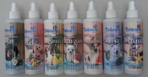 perfume loción 250ml para perro y mascotas marca tornado