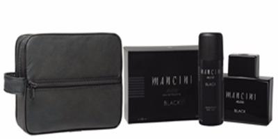perfume mancini black 100ml + deo 160 + neceser