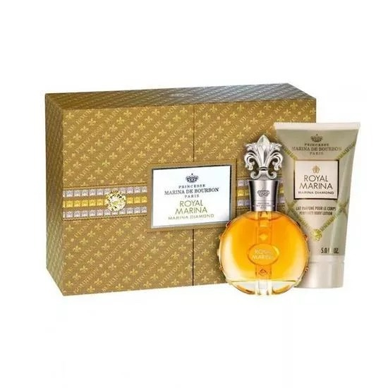 4a913c0ba1 Kit Perfume Marina De Bourbon Royal Diamond Edp C 02 Itens - R  199 ...