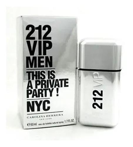perfume masculino 212 vip men carolina herrera edt 50ml