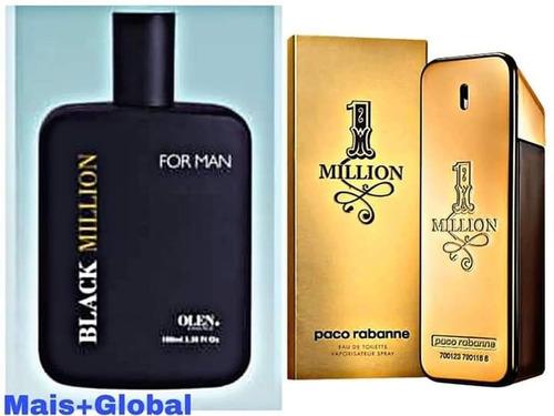 perfume masculino black mais global ref.  one million  2 un