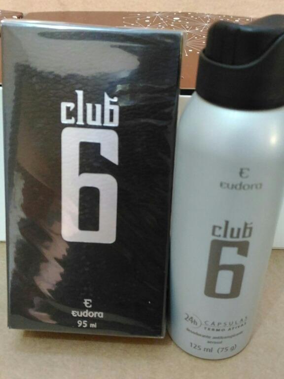2fc94996baa Perfume Masculino Club 6 Deo Colonia + Desodorante Aerossol - R  110 ...