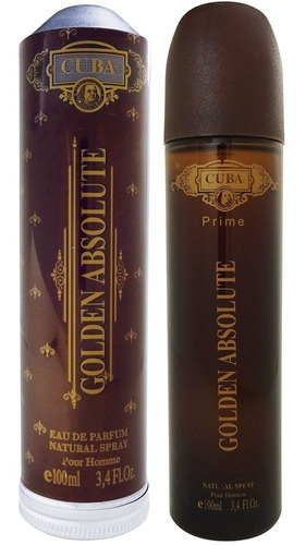 perfume masculino cuba golden absolute edp prime 100 ml