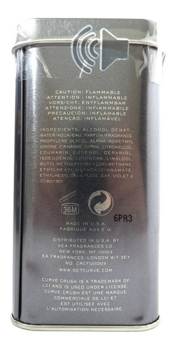 perfume masculino curve crush 125ml + frete grátis