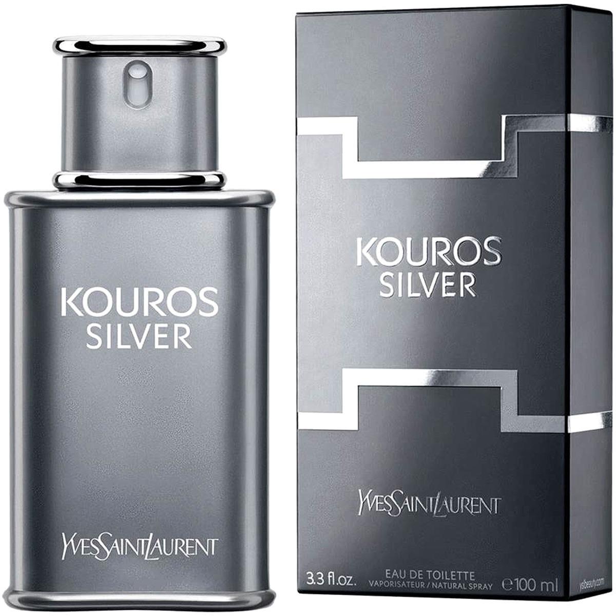 8cbadb2686 Perfume Masculino Kouros Silver Ysl 50 Ml Edt C  Selo Adipec - R  209