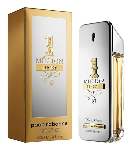 perfume masculino paco rabanne 1 million lucky edt 100ml