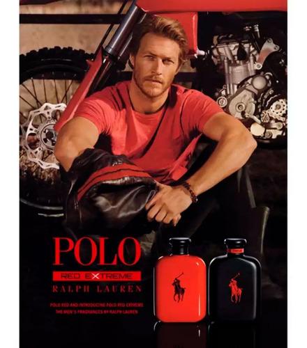 perfume masculino polo red extreme by ralph lauren eau de parfum 125ml com selo adipec, original, grátis amostras