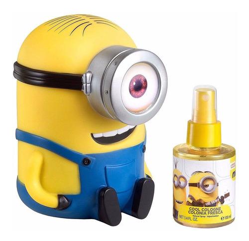 perfume minions con alcancía para niños para niños