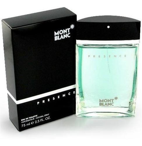 perfume montblanc presence 100% origin - ml a $1587