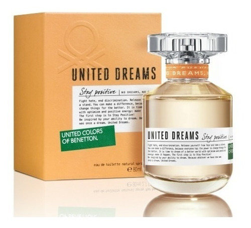 perfume mujer stay positive united dreams benetton edt 80ml