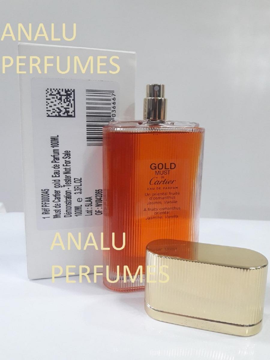 d587d8a5802 perfume must de cartier gold edp 100ml téster original. Carregando zoom.