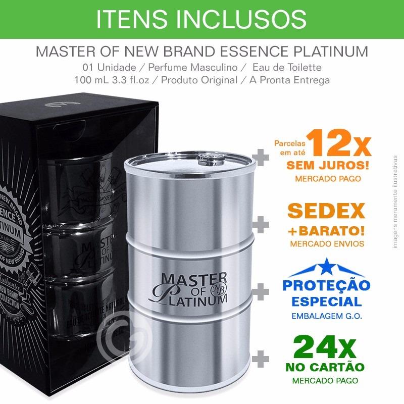6a796a35a5 perfume new brand master of platinum 100 ml edt. Carregando zoom.