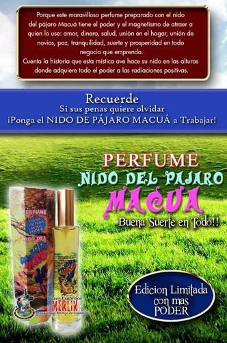 perfume nido pajaro macua - reforzado buena suerte en todo