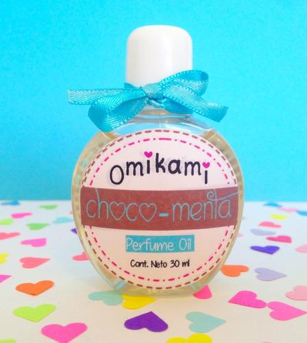 perfume oil omikami chocolate fresa coco vainilla
