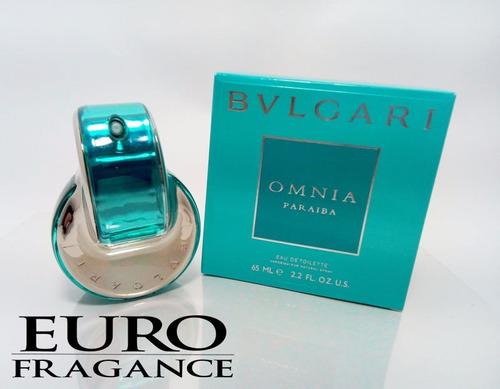 perfume omnia paraiba bvlgari original mujer + e gratis
