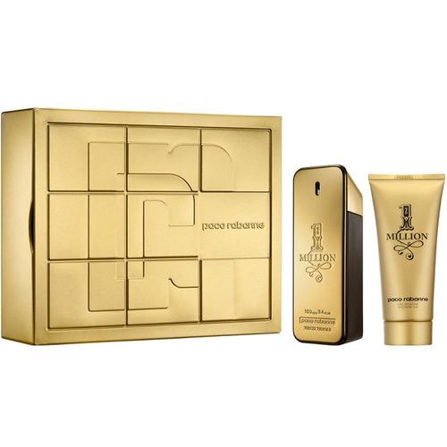 perfume one million paco rabanne cofre edt 100ml+gel ducha
