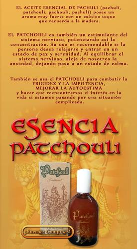 perfume original de patchouli tradiccional