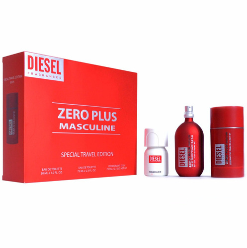 perfume original diesel zero plus hombre estuche envio hoy