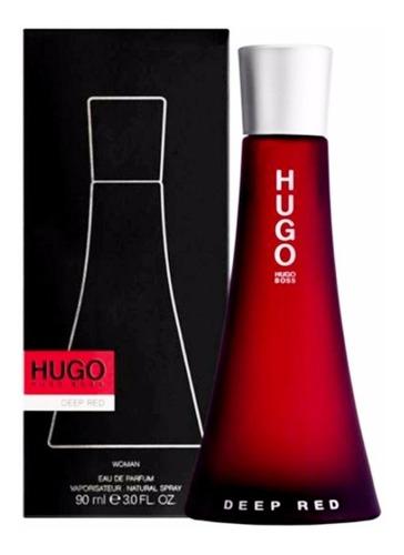 perfume original hugo boss deep red mujer 90 ml
