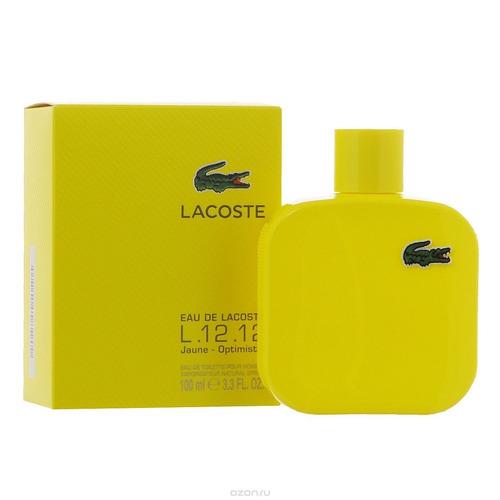 perfume original l12 blanco hombre 100ml edt lacoste