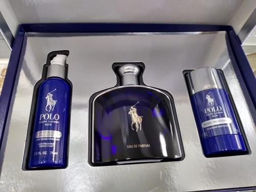 perfume original polo blue ralph lauren edp kit