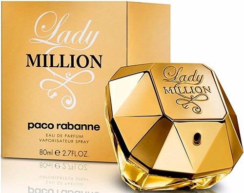 perfume paco rabbane lady million original 80 ml envio hoy
