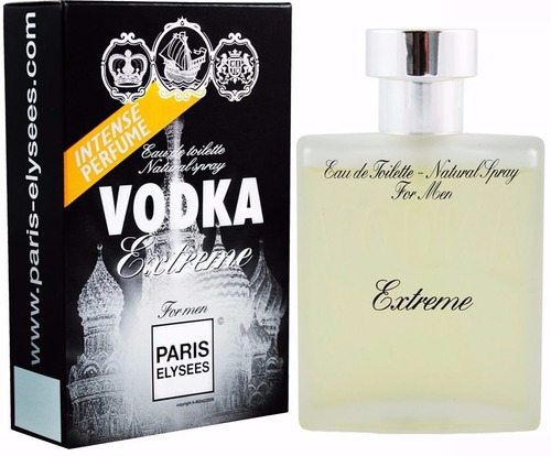 perfume paris elysees vodka extreme 100ml - ferrari black