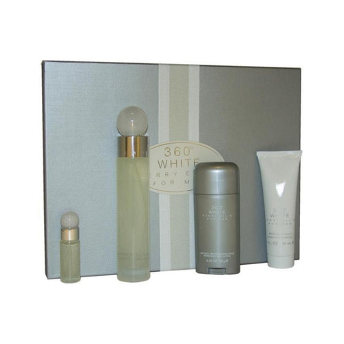 perfume perry ellis 360 white en estuche x 100 ml set x 4 me