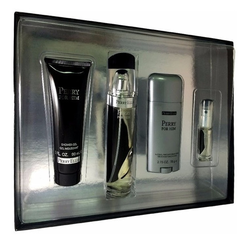 perfume perry ellis perry for him set x 4