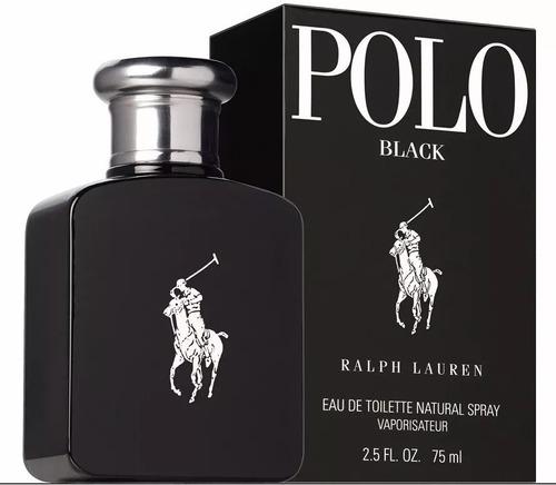 perfume polo black ralph lauren masculino edt 75ml original