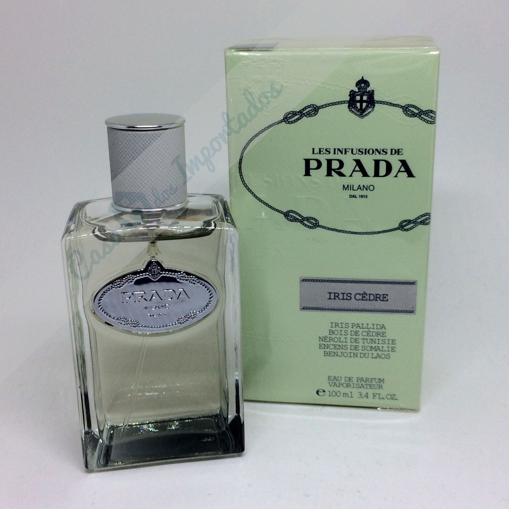 84fc4e144ab77 Perfume Prada Milano Les Infusion Iris Cedre 100ml Feminino - R  480 ...