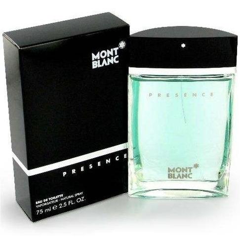 perfume presence for men by mont blanc 75 ml