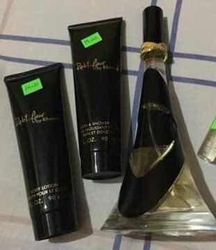 perfume reb'l fleur de rihanna ultimate original set