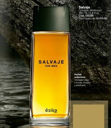 perfume salvaje hombre esika nuevo sellado garantía total!!!