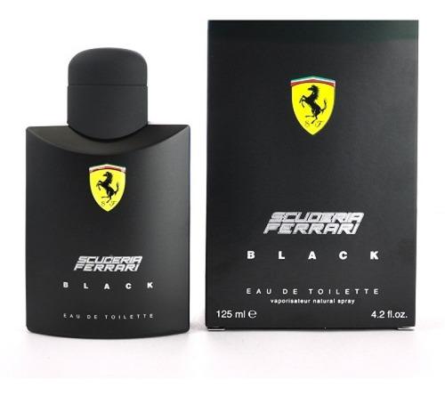 perfume scuderia ferrari black edt 125ml lacrado original