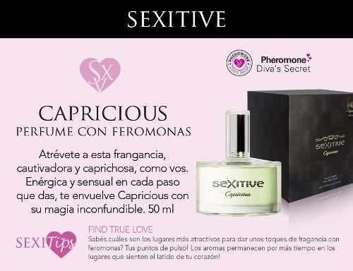 perfume sexitive capricious aphrodisiac 50 ml atracción 100%