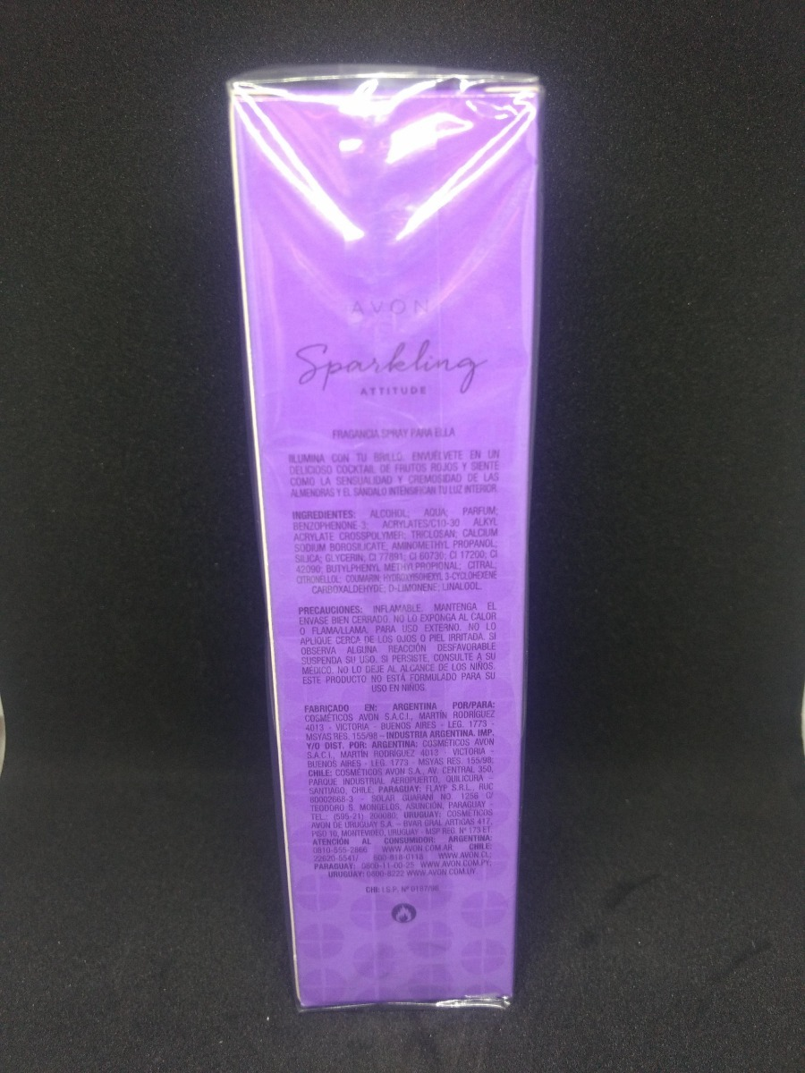 Perfume Sparking Attitude Avon Eau De Toilette Spray 40000