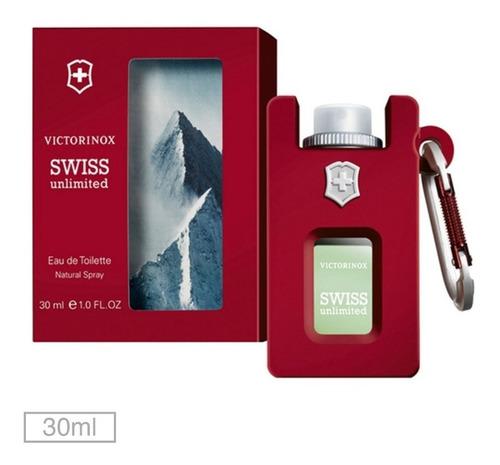 perfume swiss unlimited victorinox 30 ml - selo adipec