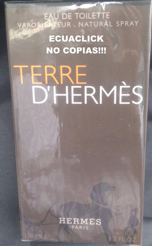 perfume terre d'hermes hombres 100ml. original... no copias!