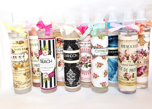 perfume textil o ambiental por mayor x10unid romanticos chic