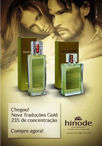 perfume traduções gold hinode feminino + brinde especial.