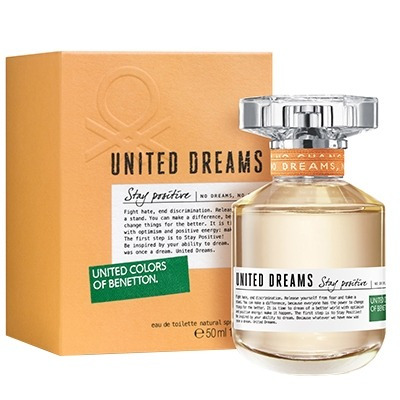 perfume united dreams stay positive edt feminino 50ml benett