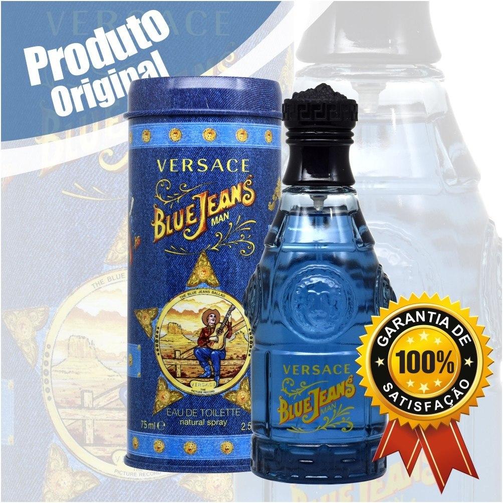 f0ecd997b5 perfume versace blue jeans 75ml masculino + amostra brinde. Carregando zoom.