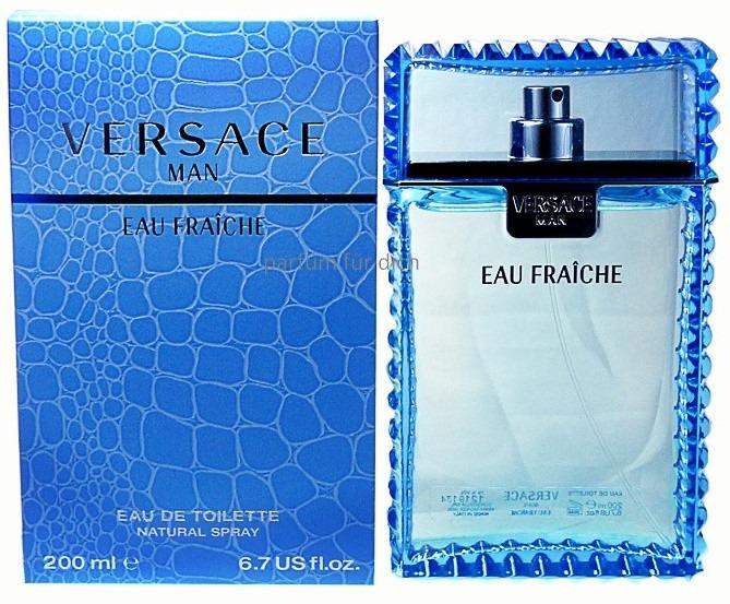 284448903 Perfume Versace Man Eau Fraiche Edt 200ml Original Lacrado - R$ 329 ...
