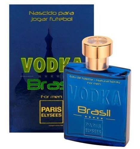 perfume vodka brasil azul 100 ml paris elysees original