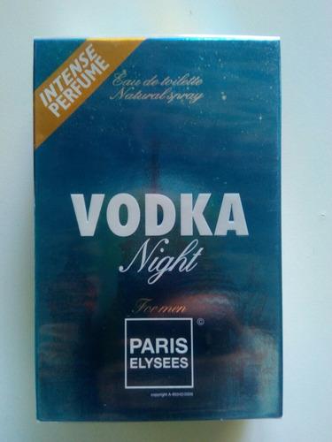 perfume vodka night paris elysses 100 ml