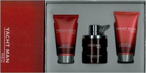 perfume yacht man red 3 piezas man set