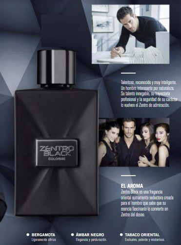 perfume zentro black unique hombre super oferta!