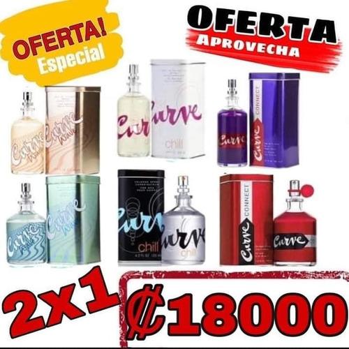 perfumes curves 2x1  de dama 100ml  / hombre 125ml